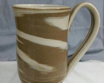 Coffee Cup. Coffee Mug. Large. Brown. Beautiful handmade pottery cup. Unique, no two are exactly the same.