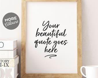 Custom Printable Art/ Personalized prints/ Custom print/ Custom handwriting/ Custom Quote Print/Custom Design/ Custom Typography/ Custom Art