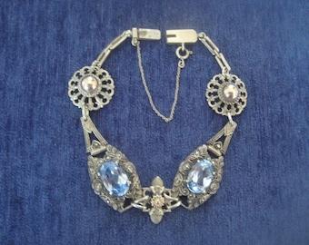 Silver La Belle epoque Art nouveau mille griffe bracelet with beautiful spinal