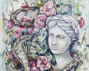 Eurydice Fine Art Original Oil painting Oil on canvas