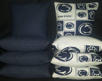 Set Of 8 Penn State Nittany Lions Cornhole Bean Bags Top Quality FREE SHIPPING