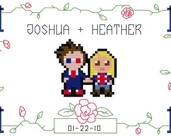 Doctor & Rose Cross Stitch Pattern - Couples - (PDF)