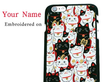 personalized custom name Lucky Cat unique iPhone case iPhone 7 case, iPhone 7 plus, iPhone 6, iPhone 6 plus,iPhone 6s,iPhone 6s plus