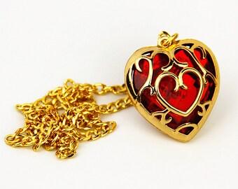 Legend of Zelda Heart Container necklace