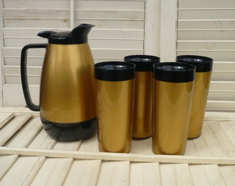 Thermo-Serv Pitcher and Tumblers