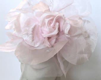 Kentucky Derby Pink Fascinator, Pink Women Hat, Pink Wedding Hat, Pink Church Hat
