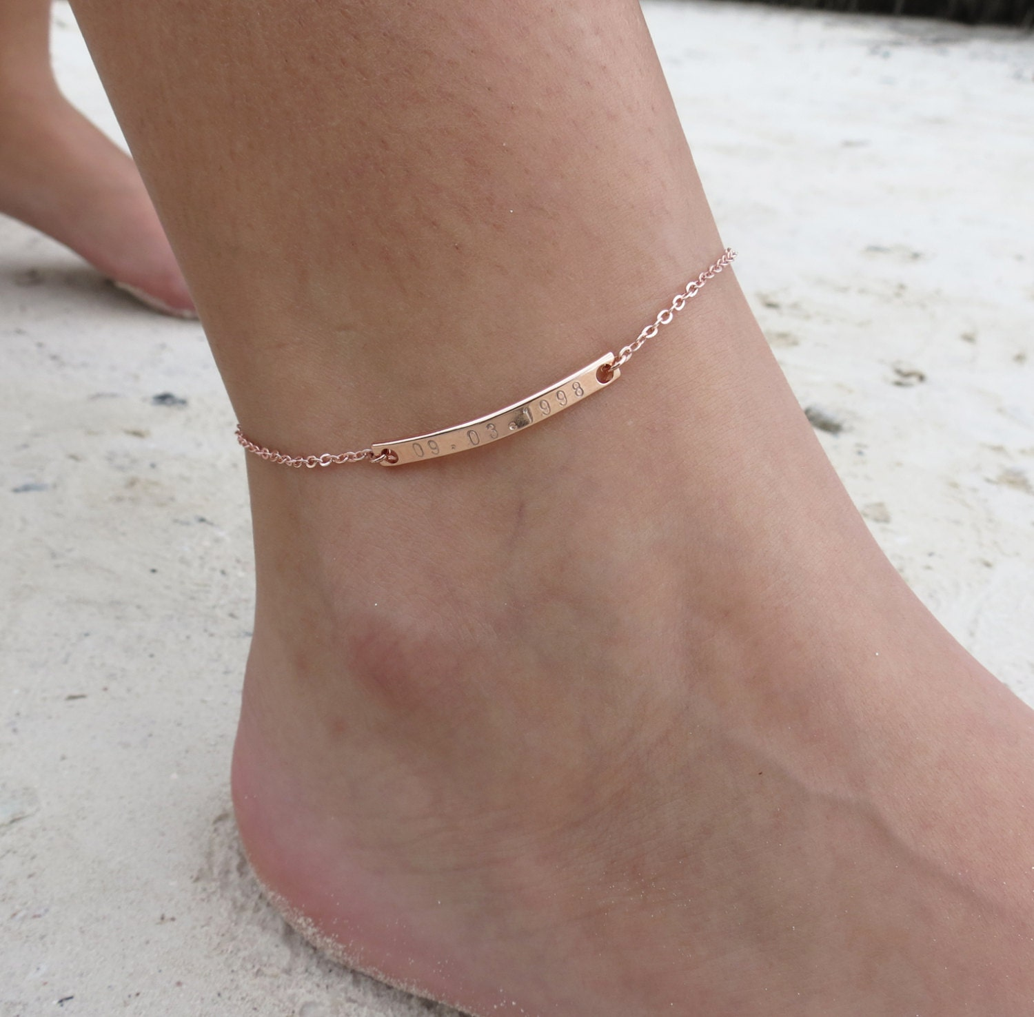 for simple string ankle custom fa caymancode bracelets cute women anklet mannan earrings