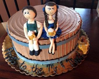 Oktoberfest wedding cake topper, german cake topper