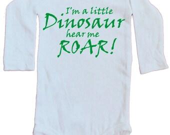 I'm a little Dinosaur hear me roar Onesie, long sleeves