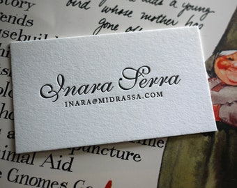 The Fancy Card – Custom Letterpress Printed Calling Cards 100ct
