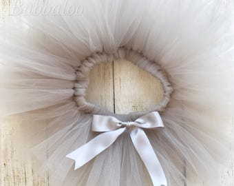 Grey Silver Handmade Sewn Tutu, Babies, Toddlers and Girls, Full & Fluffy, Special Occassion, Bridesmaid, Birthday Outfit Cake Smash