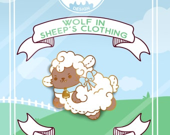 PREORDER!! ---- Kawaii Wolf in Sheeps Clothing Enamel Pin