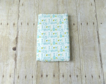Flannel Receiving Blanket - Swaddle Wrap - Baby Flannel Swaddle - Blue Baby Blanket - Green Baby Boy Blanket - Mommy Daddy Blue Blanket