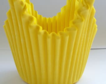 Yellow Muffin Cases with Points - Crimped Paper Muffin Cases - 50 in pack