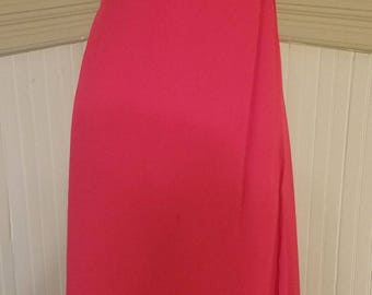 Alfred Angelo Red Formal Gown, Spaghetti Straps, Beading on Bodice, Chiffon Skirt, Size 18w