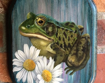 Amphibian Art - Animal Portrait - Toad Painting - Frog Prince