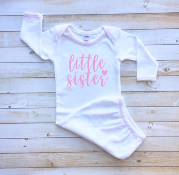 Baby girl gown night gown layette little sister white gown