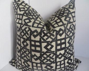 Black Pillow, 16x16, Beige Pillow, Geometric Pillow,  Pillow cover,Beige Pillow cover, Decorative Pillow, Black pillow cover