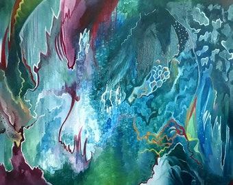 Underwater Forest- A2 Print