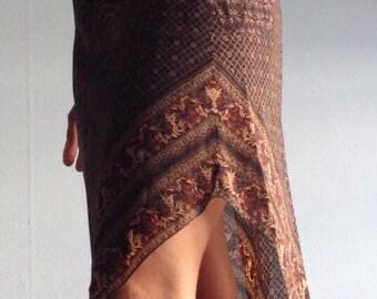 Vintage 70s Halter Dress 70s Size Small disco summer handkerchief hem