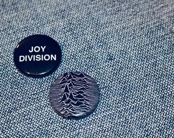 Joy Division - Unknown Pleasures - Handmade Button Badges - Factory Records