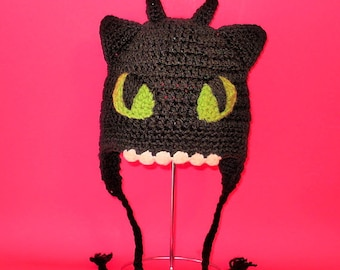 Toothless Dragon Amigurumi Pattern : Crochet pattern pdf toothless hat beanie and earflap all