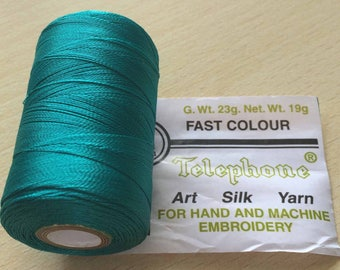 Rayon thread / artificial silk 393 turquoise