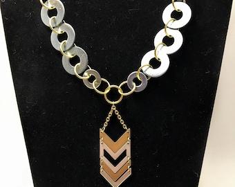 Chevron Industrial Necklace