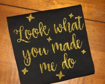 Look what you made me do - gold - glitter - swift tour - shake it