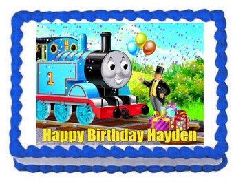 Thomas and Friends party decoration edible cake image cake topper frosting sheet