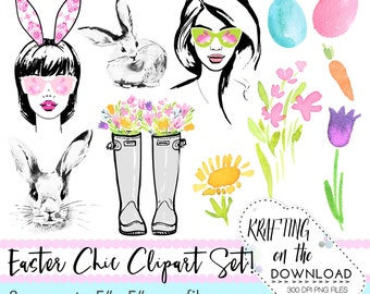 watercolor easter spring clipart png file watercolor spring floral clip art set watercolor spring fashion clipart png files