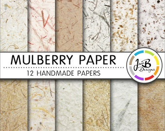 Textured Digital Paper, Mulberry Paper, Handmade Paper, Textured Paper, Scrapbook Paper, Digital Download, Printable Paper, Background, Pack