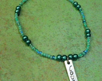 Love pendant bracelet/love charm necklace/rectangle love pendant