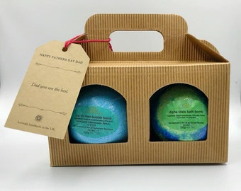 fathers day bath bomb gift set.