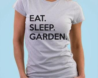 Gardening T-shirt, Gardener, Gifts For Gardeners, Eat Sleep Garden shirts - 674