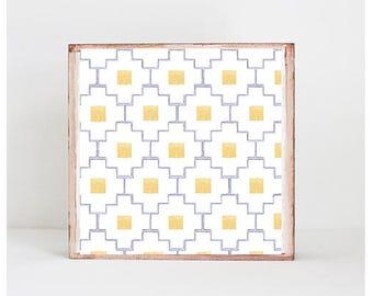 moroccan tile nursery decor, tribal nursery art nursery prints, purple copper nursery decor- kids playroom- southwest- redtilestudio