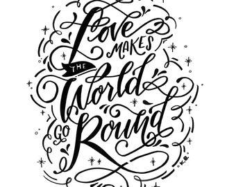 Love quotes, Love print, Quote wall art, Quote poster, Wall art print, Office art, Wall print, Lettering art, Typography print, Quote art