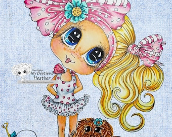 INSTANT DOWNLOAD Digital Digi Stamps Big Eye Big Head Dolls Bestie New Bestie Beach Bunny Img378 My Besties By Sherri Baldy