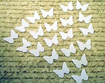 Funfetti Paper Confetti  Die Cut Butterflies  in Snowy White