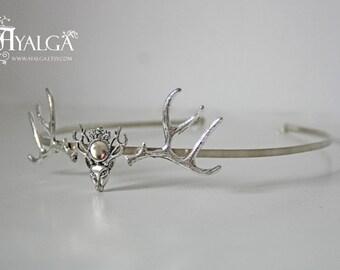 deer tiara baratheon tiara - antler crown -