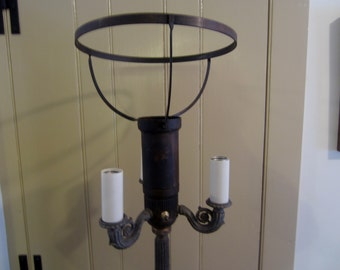 Vintage Floor Lamp ~ one piece of the top band needs sodering ~ does the band have a name?