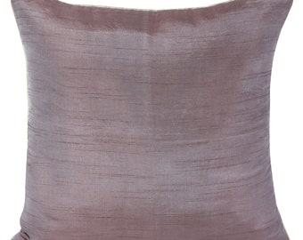 Set of 2 Solid Taupe Pillow Covers With Silver/Gold Piping Taupe Sham Covers 14x14 16x16 18x18 20x20 22x22 24x24 26x26