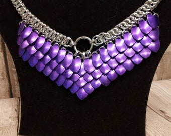 Scalemaille Chainmaille necklace, Scalemaille Goddess necklace