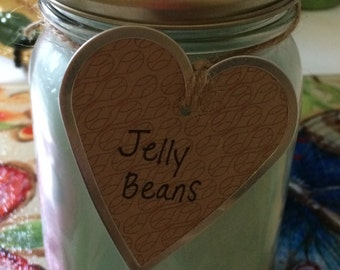 16 oz. Jelly Beans Scented Soy Candle in Mason Jar