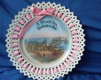 Vintage Ribbon Plate The Pier Southend on Sea