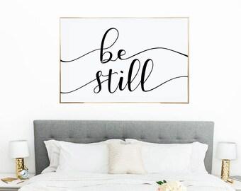 Be Still Printable Wall Art, Instant Download, Be Still My Soul Print, Wall Decor, 24X36, MAM304_01