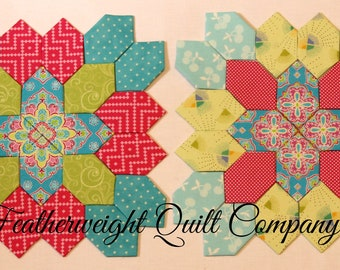 Lucy Boston Patchwork of the Crosses Two block kit# 13