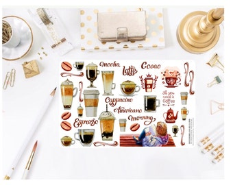 Coffee Lover Deco Stickers