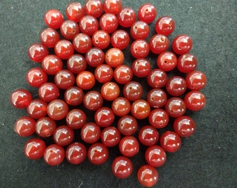 Vintage Carnelian 8mm Rounds