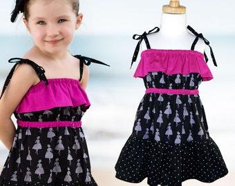 Girls dress pattern, childrens sewing pattern PDF, Girls pattern, pdf pattern, girls sewing pattern pdf, girls clothing pattern, kids, GYPSY